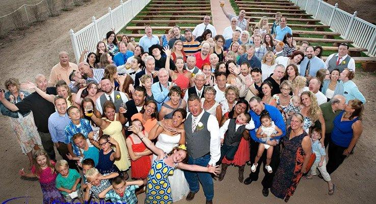 wedding party ellis ranch