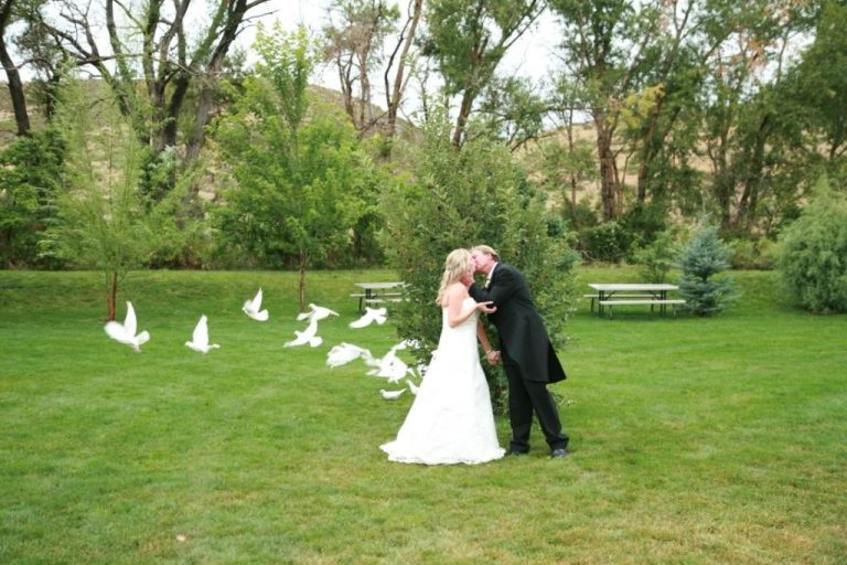 ellis ranch couple and doves