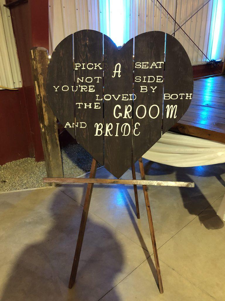 ellis ranch wedding sign