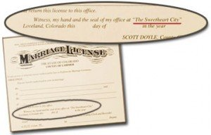 Ellis Ranch marriage license
